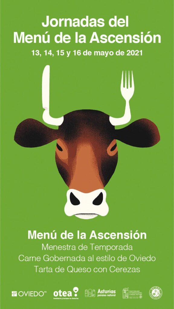 Menú de La Ascensión en el Restaurante Al Baile La Temprana, en el Casco Antiguo de Oviedo. Del 13 al 16 de mayo de 2021.